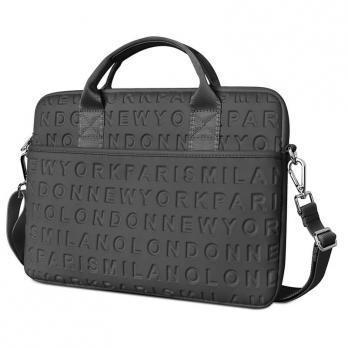 """Ручная сумка WiWU Vogue Laptop Slim Bag 15,4"""" с ремешком (Black, Grey)"""